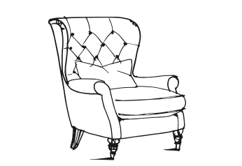 Farmhouse Luxe Wing Back Chair