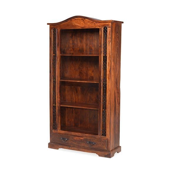 Salah -  Tall Bookcase With Drawer