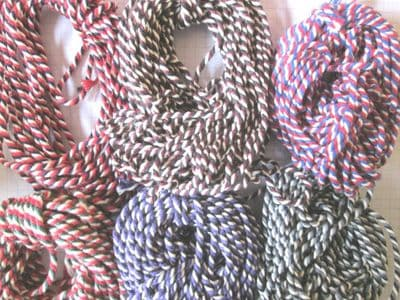 5 or 10 metres of Tri- Coloured  Thick Cotton Bakers Twine  Choice of Colours