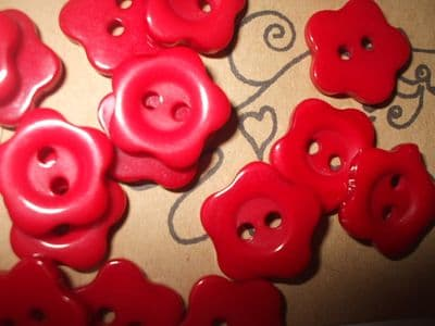 50 x 14mm Choice of Colour Flower buttons