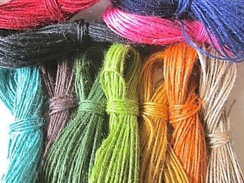 20 metres of Coloured Jute Twine  Choice of Colours