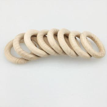 47mm   beech wood  rings co-ordinate with peg dolls