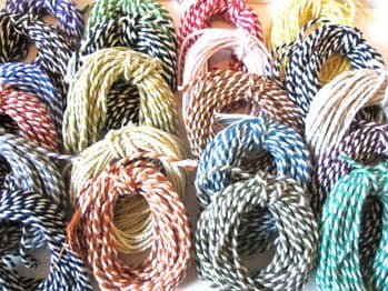 5 or 10 metres   2mm Thick Cotton Bakers Twine  Choice of Colours