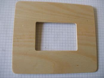 Birch Ply Large Wooden Frame Shape Wood Craft Shape
