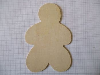 Birch Ply Large Wooden Gingerbreadman Wood Craft Shape