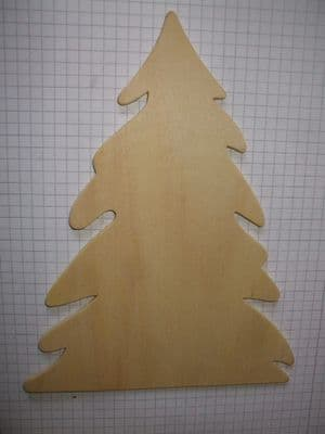 Birch Ply Large Wooden Pine Tree Wood Craft Shape