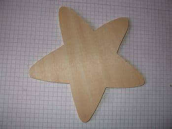 Birch Ply Large Wooden Standard Star Wood Craft Shape