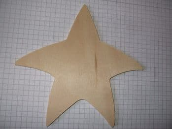Birch Ply Large Wooden Whimsical Star Wood Craft Shape