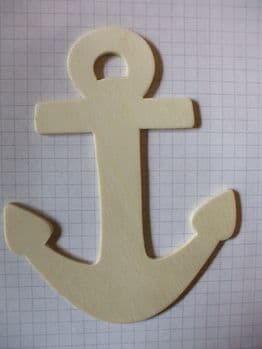 Birch Ply Wooden Anchor Wood Craft Shape