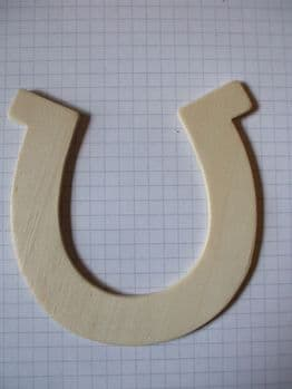 Birch Ply Wooden Horseshoe Wood Craft Shape