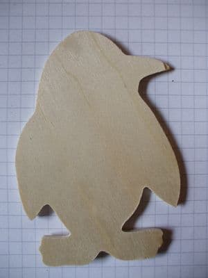 Birch Ply Wooden Penguin Wood Craft Shape
