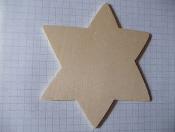 Birch Ply Wooden Star of David Wood Craft Shape