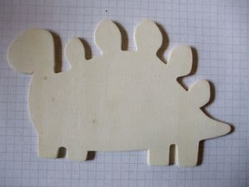 Birch Ply Wooden Stegosaurus Wood Craft Shape