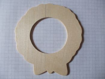Birch Ply Wooden Wreath Wood Craft Shape