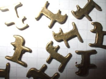 Bronze CAT SPACER BEADS x 10