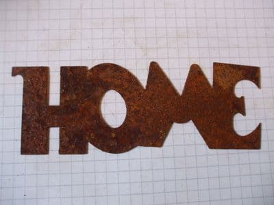 Rusty Tin 'HOME' Sign Plaque