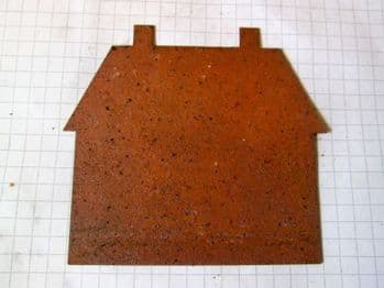 Rusty Tin House  two chimney 75mm
