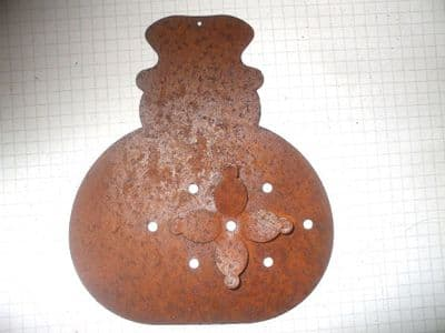 RUSTY TIN SNOWMAN   125mm   Christmas Decoration