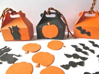 Small Hallowe'en Boxes Choice of Colour  Cat, pumpkin Bat
