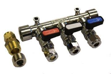 3 Way Gas Manifold (8mm)