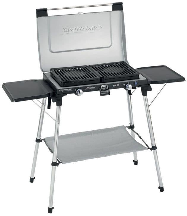 Campingaz 600 SG Double Burner & Grill Portable Camping Stove, fishing cooking, Camping portable stoves - Grasshopper Leisure