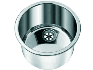 CAN LA1418 CYLINDRIC Round Stainless Steel Sink 360mm (Polished)