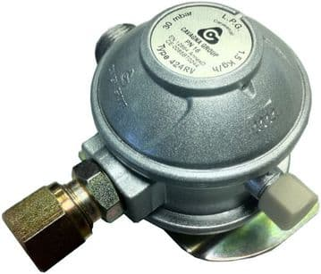 Cavagna M20 Euro Gas Regulator 8mm Angled Outlet