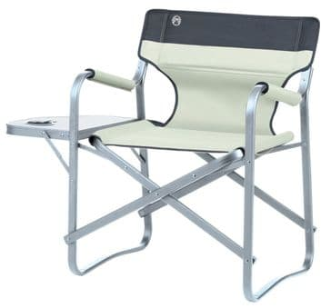 Coleman Deck Chair With Table (Khaki) Camping Chair