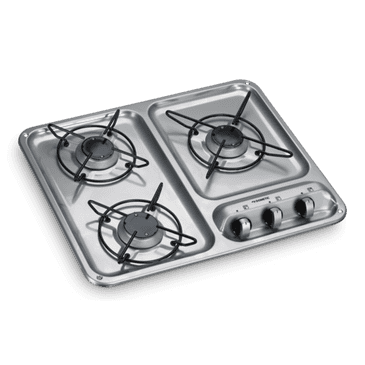 DOMETIC HB 3400 THREE-BURNER GAS HOB, 500 X 400 MM