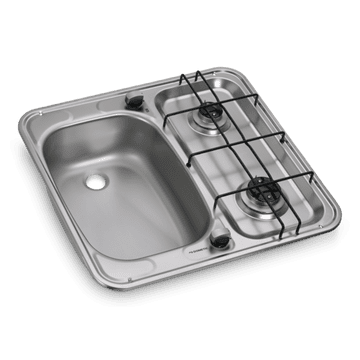 DOMETIC HS 2460 GAS HOB AND SINK Combination Unit - Left or Right Hand