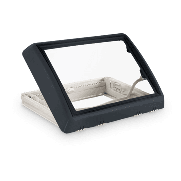 Dometic Midi Heki Style Rooflight With Forced Ventilation (700 x 500mm) - Grey