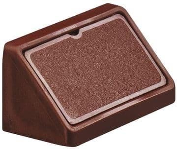 Double Corner Joint Blocks & Caps - Dark Brown