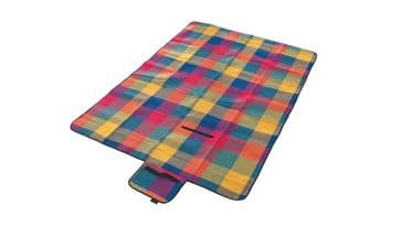 Easy Camp Multi Coloured Camping / Garden Picnic Rug Blanket