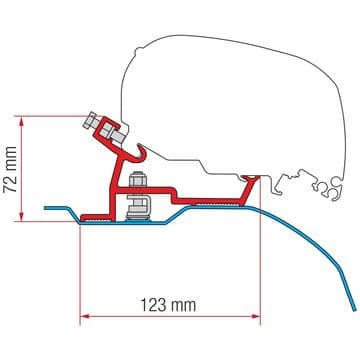 Fiamma Awning Adapter Kit Fiat Ducato after 2006 - High Roof - F65 / F80