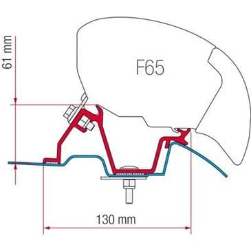 Fiamma Awning Adapter Mercedes Sprinter High Roof F65 / F80 Eagle 400
