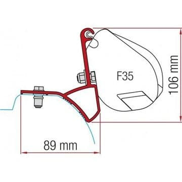 Fiamma F35 Awning Adapter Kit - Trafic/Vivaro/ After 2015