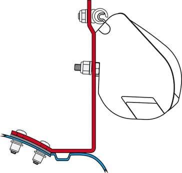 Fiamma F35 Awning Adapter Kit - Viano/Mercedes Vito Before 2004