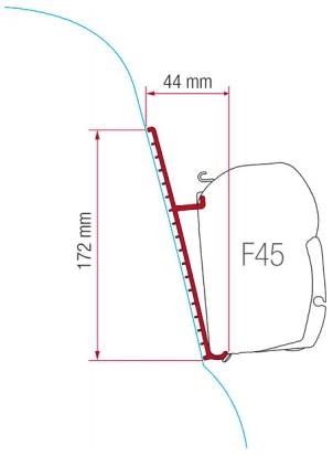 Fiamma F45 Awning Adapter Kit - Fibreglass Roof