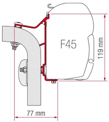 Fiamma F45 Awning Adapter Kit - Hymer Van/B2