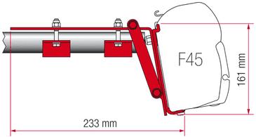 Fiamma F45 Awning Adapter Kit - Kit Roof Rail