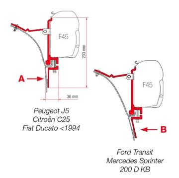 Fiamma F45 Awning Adapter Kit - Kit Van