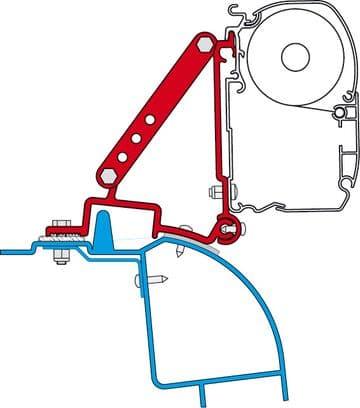 Fiamma F45 Awning Adapter Kit - Renault Master H2