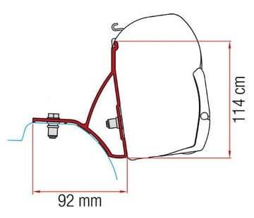 Fiamma F45 Awning Adapter Kit - Trafic / Vivaro After 2015