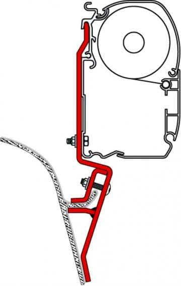 Fiamma F45 Awning Adapter Kit - VWT3 / Mazda Bongo