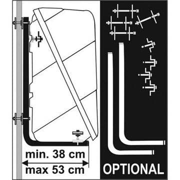 Fiamma WALL KIT BOX for Rear Ultraboxes