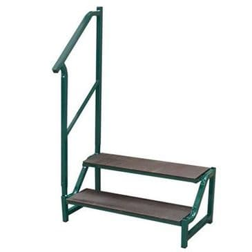 FREE-STANDING 2 TREAD STEP GREEN