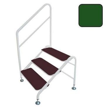 FREESTANDING 3 TREAD STEP GREEN