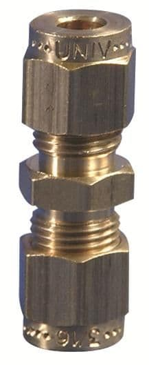 """Gas Connector Fitting 1/4"""" - 5/16"""" Straight Coupling"""