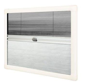 Horrex DuoPliss UCS Caravan Window Blind (600x500mm) Campervan Motorhome
