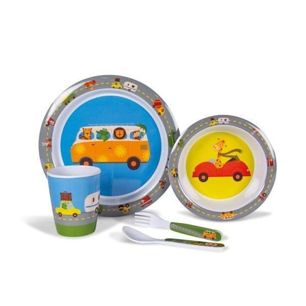 Kampa Dometic Animal Traffic Children's Melamine Tableware Dinner Set - Grasshopper Leisure